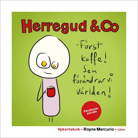 Omslagsbild: Herregud & Co som vykortsbok
