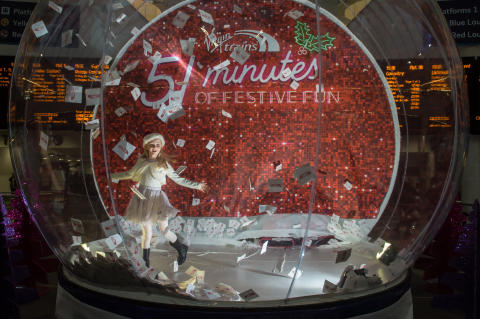 VIRGIN TRAINS SHAKES UP BIRMINGHAM WITH A GIANT SNOW GLOBE