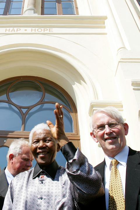 Nelson Mandela at the Nobel Peace Center