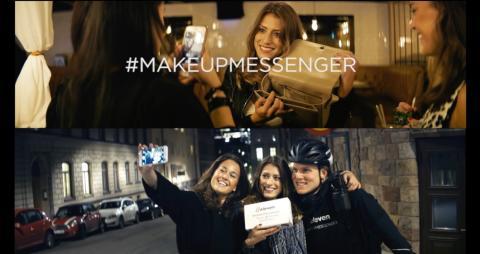 #Makeupmessenger - eleven lanserar direktleverans av gratis smink!