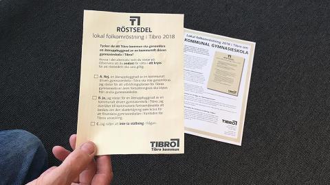 Så ska Tibroborna informeras om folkomröstningen om ny gymnasieskola
