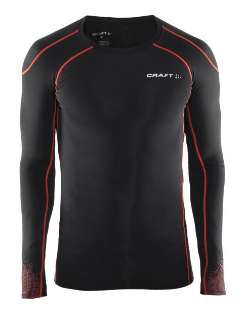 Delta Compression long sleeve för herr i färgen black/heat