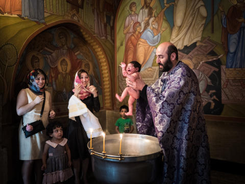 Beniamino Pisati, Georgian baptism