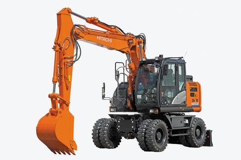 Hitachis nya hjulgrävare 145W-6 på Svenska Maskinmässan