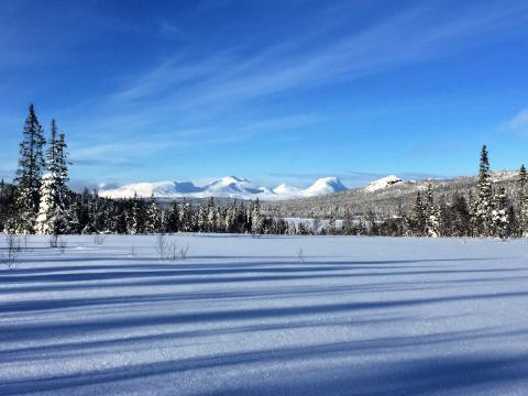 Is - og snøforhold i fjellet i Nordland og Troms 22. februar 2017