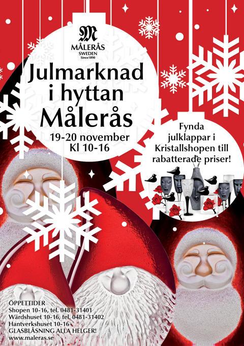 Jullhyttmarknad på Målerås Glasbruk 2016