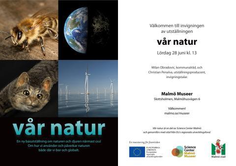 Inbjudan invigingen Vår natur