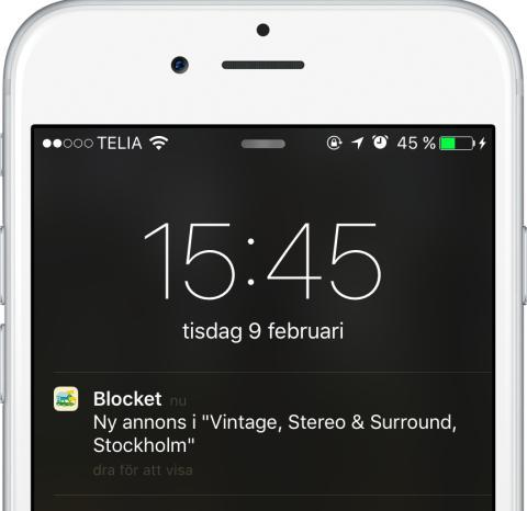 Blocket gör det lättare att komma först till kvarn - pushnotiser lanseras i appen