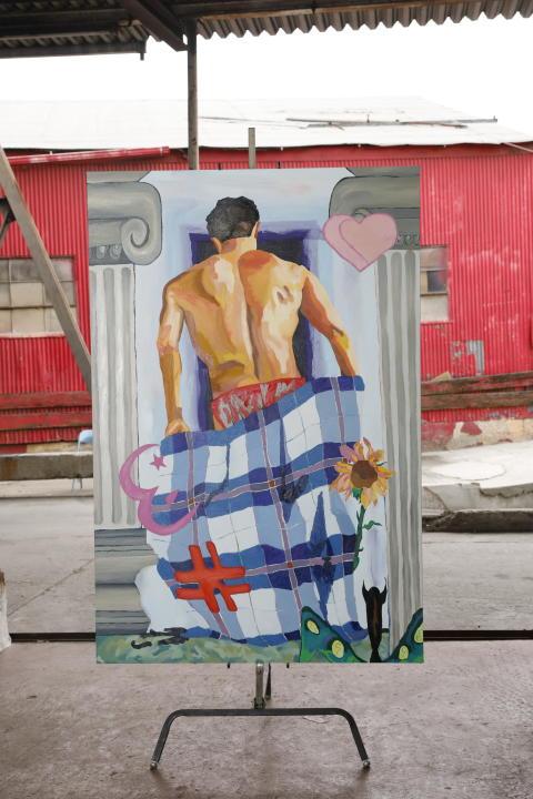 Alex Chaves, Standing Figure, 2019. Olja på duk. LA Dreams 2