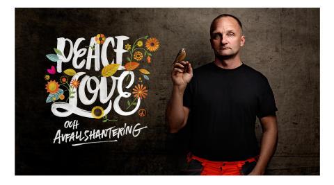 Peace, love och avfallshantering - sidobild sopbil