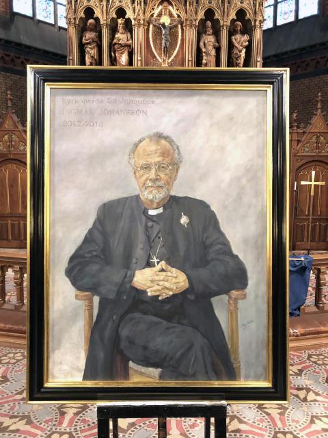 Porträtt av kyrkoherde Ingmar Johánsson