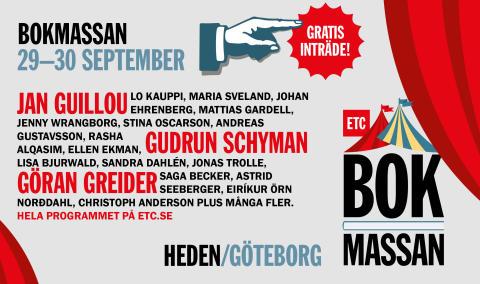 BOKMASSANS programpunkter Göteborg 29-30 Sep