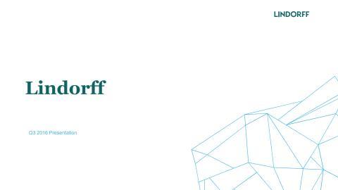 Lindorff Q3 2016 Presentation