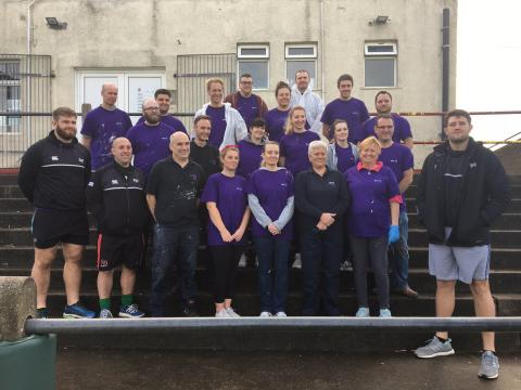 ​BT call in at Bonymaen RFC to give a helping hand