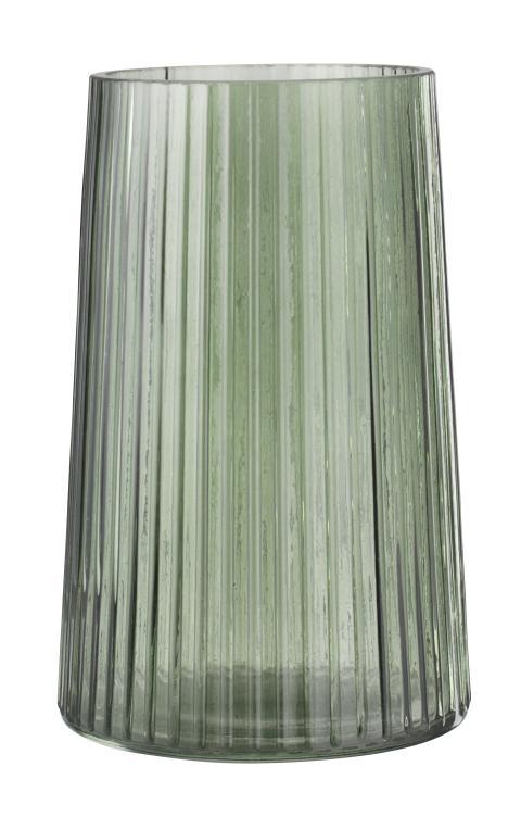 Vase ROY Ø20xH12cm grønt glas (30 DKK)