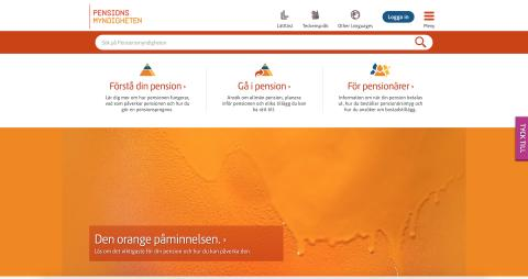 Pensionsmyndigheten – en av årets bästa myndigheter på nätet