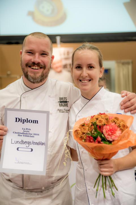 Vinnarbild Mattias Wallmark och Jessica Lundberg