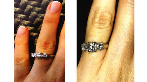 The stolen engagement ring