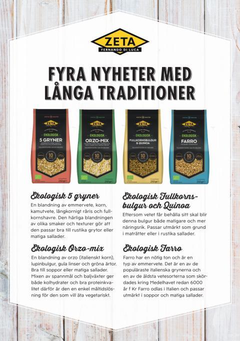 Produktblad Zeta Ekologiska Gryner