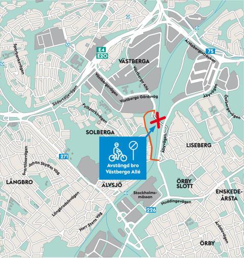Karta Cykelvägvisning