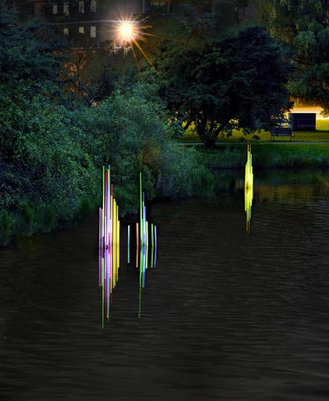 Invigning av ljuskonstverk i Öresundsdammarna