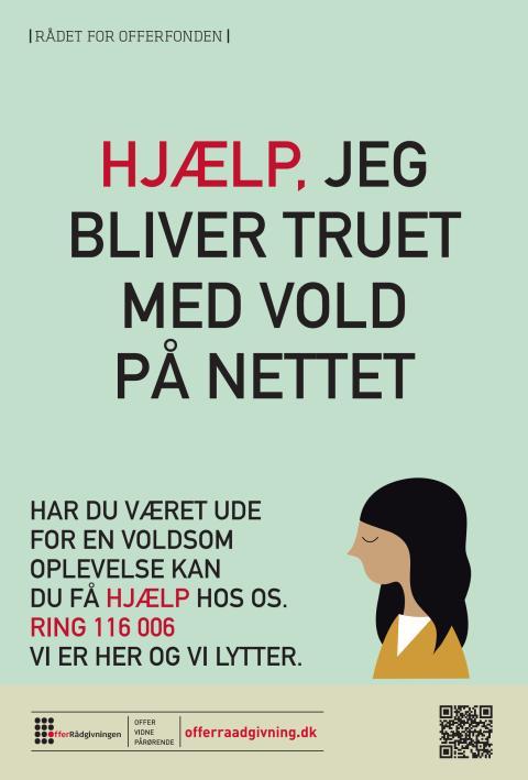Plakat: Jeg er blevet truet med vold på nettet