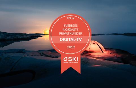Telias tv-kunder fortsätter vara Sveriges nöjdaste enligt SKI