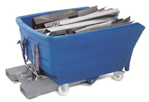 Ny tippcontainer av plast för laster upp till 1000 kg.