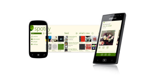 High res Spotify for WP7.5 user interface