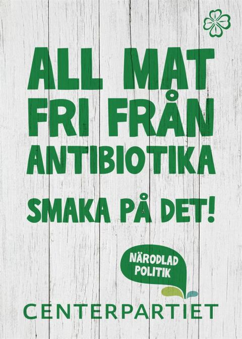 Inbjudan till pressträff med Annie Lööf mfl. 3/9 - Så vill C minska användandet av antibiotika