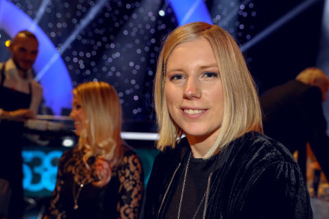 Sandra Näslund under Idrottsgalan den 15 januari 2018 i Stockholm.