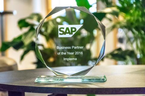 Implema utsedd till SAP Partner of the Year för tredje året i rad