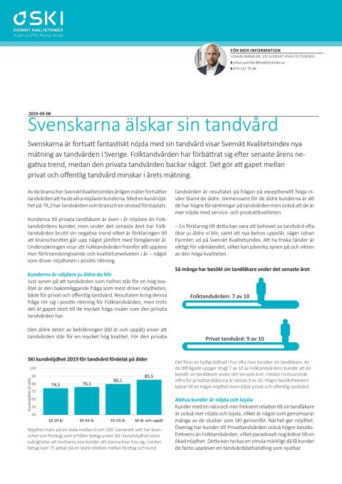 Svenskarna älskar sin tandvård