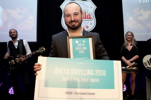 Micke Tuncer i Sveg blev Årets Sibylling 2016
