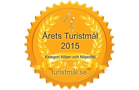 """Astrid Lindgrens Värld har utsetts till """"Årets turistmål 2015"""" i kategorin """"Nöjen & nöjesfält""""."""