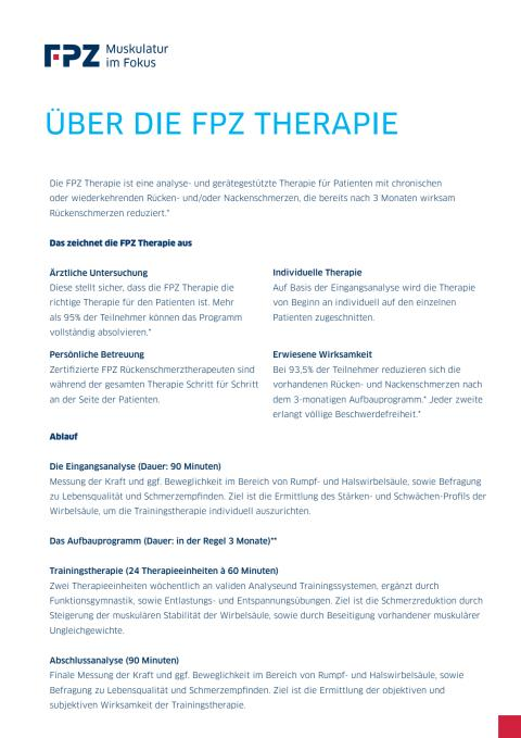 Über die FPZ Therapie