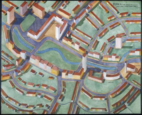 Stadsplan av Josef Frank, ArkDes samlingar.