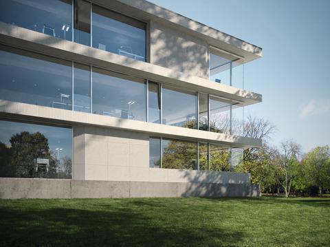 Schüco fasade FWS 60 CV – ny generasjon klassiske og etasjehøye vindusbånd