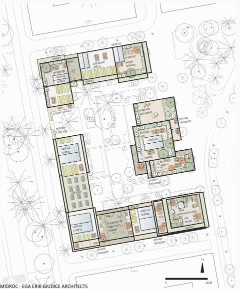 Midroc utvecklar 150 bostadsrätter i Ulleråker, Uppsala.
