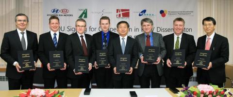 Hyundai  tecknar avsiktsförklaring om Bränslecellsbilar