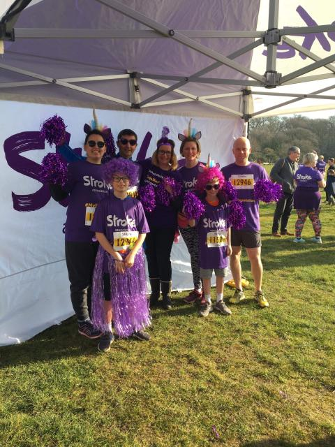Beaulieu team take on Stroke Association Resolution Run to support Anna