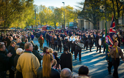 REMEMBER: Remembrance Sunday in Heywood last year. Six events will be held across the borough on 9 November.