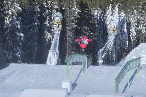 Silje Norendal i finalen i slopestyle. Fotocred: Olav Stubberud