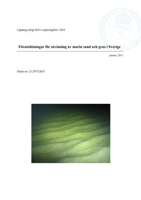 Förutsättningar för utvinning av marin sand och grus