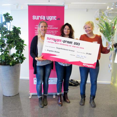 Ängdala Skolor i Vellinge kommun får  Surfa Lugnt-priset 2013