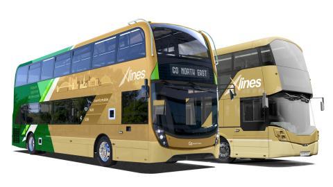 X-lines - ADL E400 and Wrightbus StreetDeck