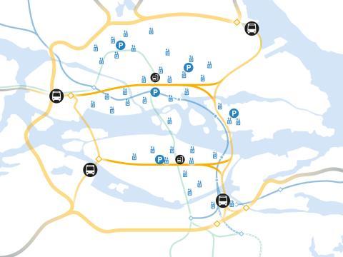 Karta 2 - Projekt Ö:a länken & T-bana Blå