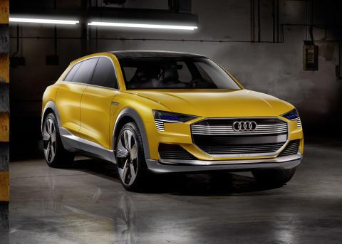 Nollutsläpp med bränslecellsdrivna Audi h-tron quattro concept i Detroit