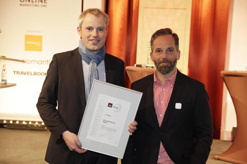 """Profi-Urlauber"" Tom auf dem Siegerpodest des fvw Online Marketing Awards 2014"