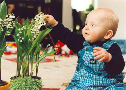 Baby mit Maiglöckchen